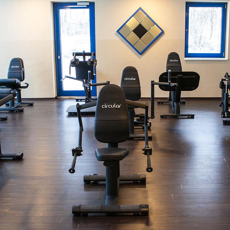 Fitnessraum im Hotel Strohofer Geiselwind